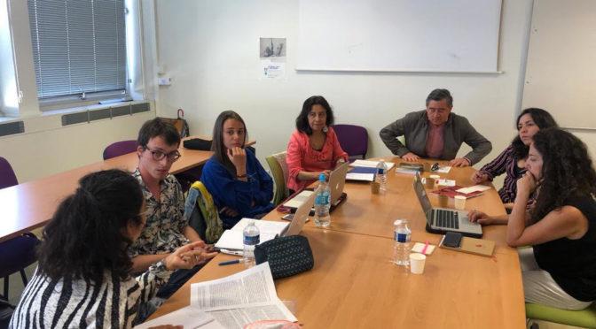 4 sept. 2019, avec A. Cartes et V. Montero de l'U. de Concepción et l'étudiant stagiaire Simón ORREGO de l'UAHC